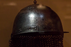 Turkish helmet, 16th c. (marios_h) Tags: leeds armor weapon armour militaryhistory cicak warfare royalarmouries royalarmouriesleeds leedsroyalarmouries turkishhelmet16thc turkishhelmet helmetislamicinscription