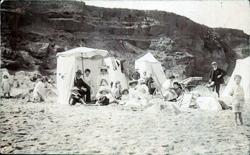 Beach, Hornsea - Beach Tents (1908)