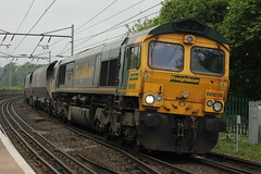 66618 4S07 - Durham (Rob390029) Tags: station durham railway heavy haul freightliner 66618 heavyhaul