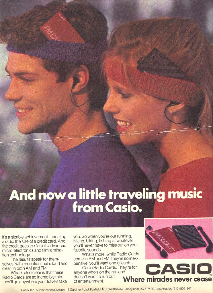 Casio Credit Card Size Radios 1985 SlantedEnchanted Tags 80s