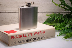 Hollow Book Safe & Hip Flask - Frank Lloyd Wright (HollowBookCo) Tags: from wedding party home architecture out frank this book design flask view photos box designer handmade unique quality interior or crafts secret craft whiskey housewares storage compartment hidden architect gifts liquor hide gift lloyd bridesmaid booze whisky everyone safe wright member hip groomsmen decor hollow geekery diversion craftmanship hollowed
