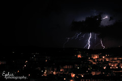 Lightning and thunderbolts (Efy Twin) Tags: storm cold rain night canon dark photography eos spring darkness wind tripod may anger rage zeus arrows rainstorm thunderstorm gloom lightning 18 55 downpour stefania thunderbolts ephie 2013 papagni 1000d