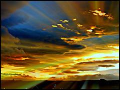 Grampian Sky (1) (ronramstew) Tags: light sunset sky sun clouds evening scotland angus rays forfar thegalaxy mygearandme mygearandmepremium