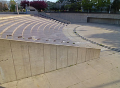 Detroit, MI Hart Plaza (army.arch) Tags: urban architecture mi landscape concrete design downtown michigan empty detroit amphitheater brutalism hartplaza