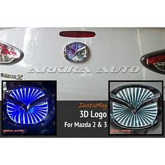 #3D #logo #mazda 2 & 3 #โลโก้หลัง 3มิติ ( #accessories #ประดับยนต์ #ของแต่งรถ #มาสด้า )