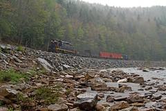 C&O Freight along the Cheat (jterry618) Tags: diesel westvirginia co ci cheatriver shaversfork westernmaryland fp7 gp9 diesellocomotive funit cheatbridge westvirginiacentral elkings