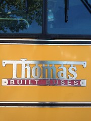 What is Thomas doing these days? (frankrolf) Tags: bus buses yellow thomas schoolbus built chromeography thomasbuiltbuses hangingbaseline