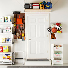 Above the Door (Heath & the B.L.T. boys) Tags: garage recycle shelves pegboard