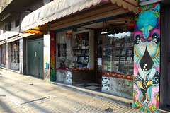 """Guardianas"" (Icaro Silencia art) Tags: streetart color mural grafitti arte aves pajaros linea pintura forma colibri figura alquimia silencia icaro muralismo esporas vasijas icarosilencia calleartecallejero"