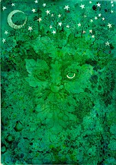 Fruitful Dreaming of a Green Man (miriamjangles) Tags: trees tree art nature forest woodland painting woods drawing spirit magic fairy fantasy imagination legend tale pagan greenman