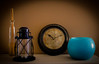 Miscellaneous (FaniTorres) Tags: blue stilllife azul reloj farol vela bodegon