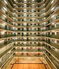 萬家燈火。 (Crusade.) Tags: city longexposure light urban building architecture night canon shift fullframe tilt tse tiltshift 5d2 tse17