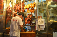 (flo chan) Tags: street travel food chicken hongkong duck market meat roast pork grocieries