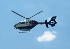 N539LN helicopter (Uniquester) Tags: flying americanflag medical helicopter n539ln