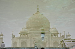 TAJ MAHAL, AGRA (manojphotography) Tags: travel white reflection tourism architecture photography holidays minaret tomb agra places structure dome marble palaces manoj mughals 7wondersofworld manojphotography tajmahalmonuments manojphotographyindia