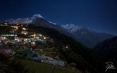 Namche Bazaar (Frank Kehren) Tags: nepal mountain night trekking canon hiking himalaya f11 thamserku 1635 namchebazaar kangtega dudhkoshi ef1635mmf28liiusm canonef1635mmf28lii canoneos5dmarkii kusumkangguru sagarmathazone