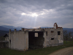 War Damaged Building near GVU (bridges_across_borders) Tags: people love youth children community war culture unitednations balkans divided bosniaherzegovina peacebuilding formeryugoslavia aidwork conflictresolution postconflict bridgesacrossborders wwwbridgesacrossbordersnet gornjivakufuskoplje omladinskicentar
