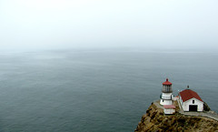 lighthouse morning 09 (donovanbeeson) Tags: sea lighthouse fog rocks cliffs pacificocean inverness ptreyes