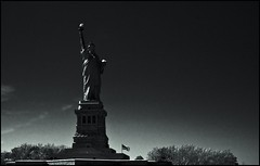 Miss Liberty (Adisla) Tags: new york sony 7 100mm bn mf manual om zuiko f28 nex