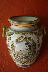 art (katelynwilliams) Tags: blue red orange green art glass ceramic design hand painted rustic pot ornate