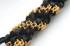 luxe leather lanyard (saxarocks) Tags: camp leather gold diy crafts gimp chain howto tutorial lanyard boondoggle lacing scoubidou