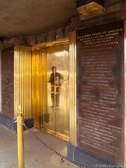 Hoover Dam (Celso Kuwajima) Tags: door usa plaque golden unitedstates lasvegas nevada elevator hooverdam finepix fujifilm bouldercity x10 fujivelvia100 vsco