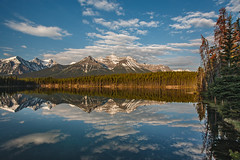 Jewel of the Rockies (Jackpicks) Tags: lake canada reflection water woods alberta banffnationalpark canadianrockies herbertlake mygearandme mygearandmepremium mygearandmebronze mygearandmesilver