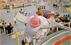 Dumbo the flying elephant, 1963 (Tom Simpson) Tags: vintage 60s disneyland dumbo disney 1960s fantasyland 1963 dumbotheflyingelephant vintagedisneyland vintagedisney vintagefantasyland