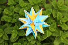 С Днём Рожденья, Наташа!!! - Happy Birthday, Natalia!!!! (Andrey Hechuev | Андрей Хечуев) Tags: blue green yellow catchycolors origami lightblue modularorigami kusudama мята rigelkentaurus