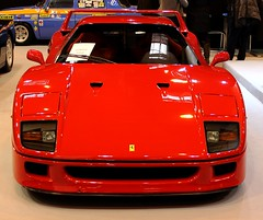Ferrari F40 (SP-98) Tags: auto light red france hot love cup look car sport race canon rouge eos team italian power young style right ferrari voiture racing course exotic turbo enzo gt plaisir italie v8 exhaust roadster f40 historique biturbo propulsion rtromobile worldcars