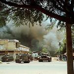 BE082421 - SAIGON 1968 - Giao tranh tại khu vực Phú Lâm - nay là ngã ba đường Hồng Bàng - Phú Thọ, Q11, bên cạnh vòng xoay Cây Gõ - Minh Phụng thumbnail