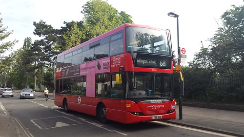 SP103 YT59SHV Scania Omnicity 10.8m on route 681