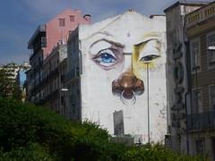 Neighbourhood Watch (m_artijn) Tags: face wall painting nose eyes lisbon watch ring por neighbourhood