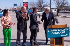 2015-05-04-Premier and Mayor Bowman shaking hands