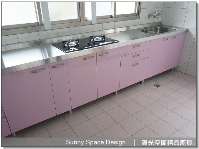 廚具│廚具大王│陽光廚具-作品251-一字型廚具+電器櫃-陽光空間精品廚具