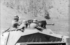 Sd.Kfz. 250/11 of the Panzergrenadier-Division Großdeutschland in action on the Eastern Front