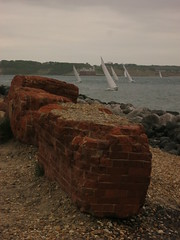 Photo of Hurst castle, yachts on the Solent