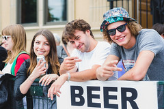 Audience @ Lukes Drug Mart Pre-Fest Party. Sled Island 2015. (Sled Island Photo) Tags: canada calgary beer outdoors photo audience alberta sponsors bigrock 2015 michaeltan sledisland lukesdrugmart