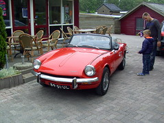 1970 Triumph Spitfire Mk III (Davydutchy) Tags: auto holland classic netherlands car automobile ride iii rally nederland triumph bil oldtimer spitfire rit friesland biler mkiii klassiker joure 2015 frysln vetern vroem toerrit vroem2015