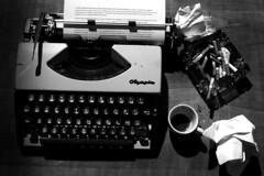 past (sara.barbieri) Tags: sigaretta writer vintage blackandwhite typewriter
