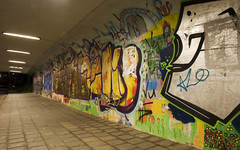 Selwerd (Arend Jan Wonink) Tags: graffiti streetphotography streetart tunnel night le longexposure selwerd groningen