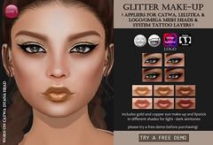 Glitter Make-Up (for FLF) (Izzie Button (Izzie's)) Tags: flf glitter izzies makeup gold applier