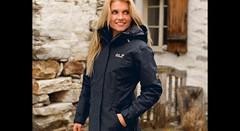 Woman in Jack Wolfskin 5th Avenue (ShinyNylonFan) Tags: jackwolfskin coat waterproof outdoorjacket mycollection