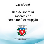 Debate sobre as medidas de combate � corrup��o 24/10/2016