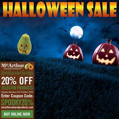 Spooktacular 20% OFF Savings on Skin & Hair Care (mcarthurnaturalproducts) Tags: mnp mcarthurnaturalproducts pawpaw papaya papain papaw onsale salenowon skincaresale mcarthursale sale bargains halloween