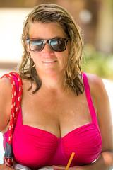 Hot Pink in Vegas (Thomas Hawk) Tags: america aria ariacasino ariaresort ariaresortcasino clarkcounty hotel julia juliapeterson lasvegas lasvegasstrip nevada sincity usa unitedstates unitedstatesofamerica vegas bikini mrsth sexy spouse sunglasses swimsuit wife fav10
