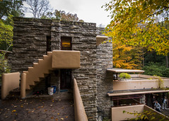 So Many Different Levels (trainmann1) Tags: nikon d90 tokina 1116mm amateur handheld fallingwater fallingwaterhouse franklloydwright flw house retreat pa pennsylvania millrun architectural design architect interior exterior inside outside october 2016 1939 autumn fall beautiful elegant stairs upstairs downstairs steps stone wood wall walls building windows glass vignette
