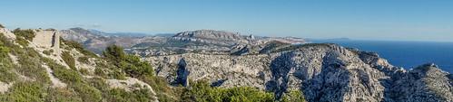 Panoramique sur la Gineste et Mont Puget