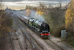 46233 (Geoff Griffiths Doncaster) Tags: 46233 spalding duchess sutherland cathedrals express lincoln christmas market