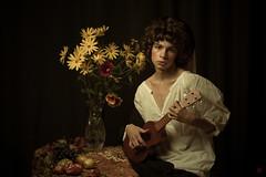 *** (Gianeya) Tags: renaissance art artist makeupartist gianeya studio portrait canon lighting boy ukulele musician caravaggiostyle youngman photosession photographyart